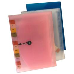 תיק הרמוניקה פלסטיק A4 1-12 כפתור