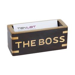 מעמד כרטיסי ביקור the boss עץ ונחושת 4433