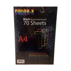 בריסטול נייר A4 שחור 180 גרם