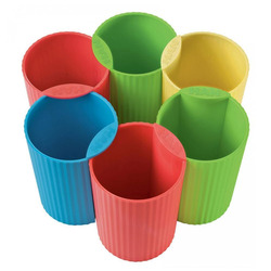 כוס לעטים פלסטיק פסטל HAN