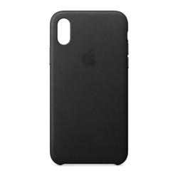 מגן כיסוי עור iPhone X שחור