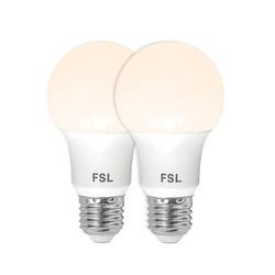נורת לד A60 10W לבן אור חם E27 זוג במארז FSL